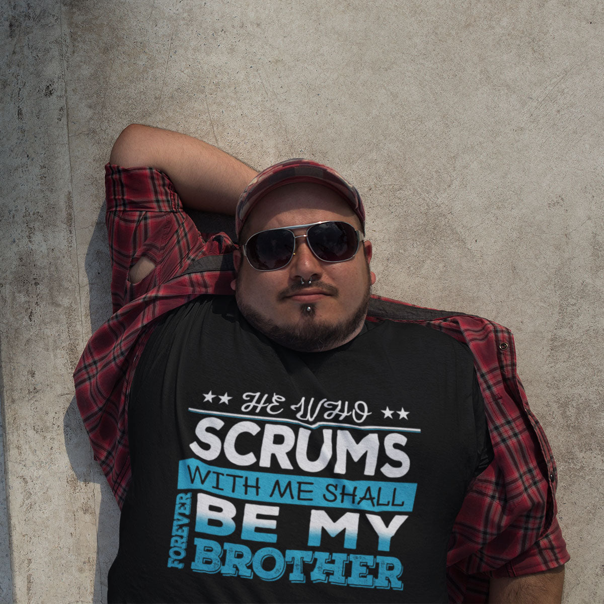He Who Scrums With Me Shall Forever Be My Brother Rugby Tee - First XV rugbystuff.com