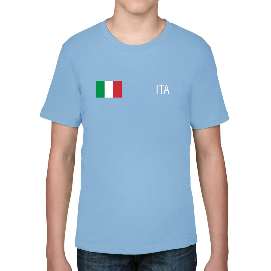 Italy Rugby Kid's Flag Tee - First XV rugbystuff.com