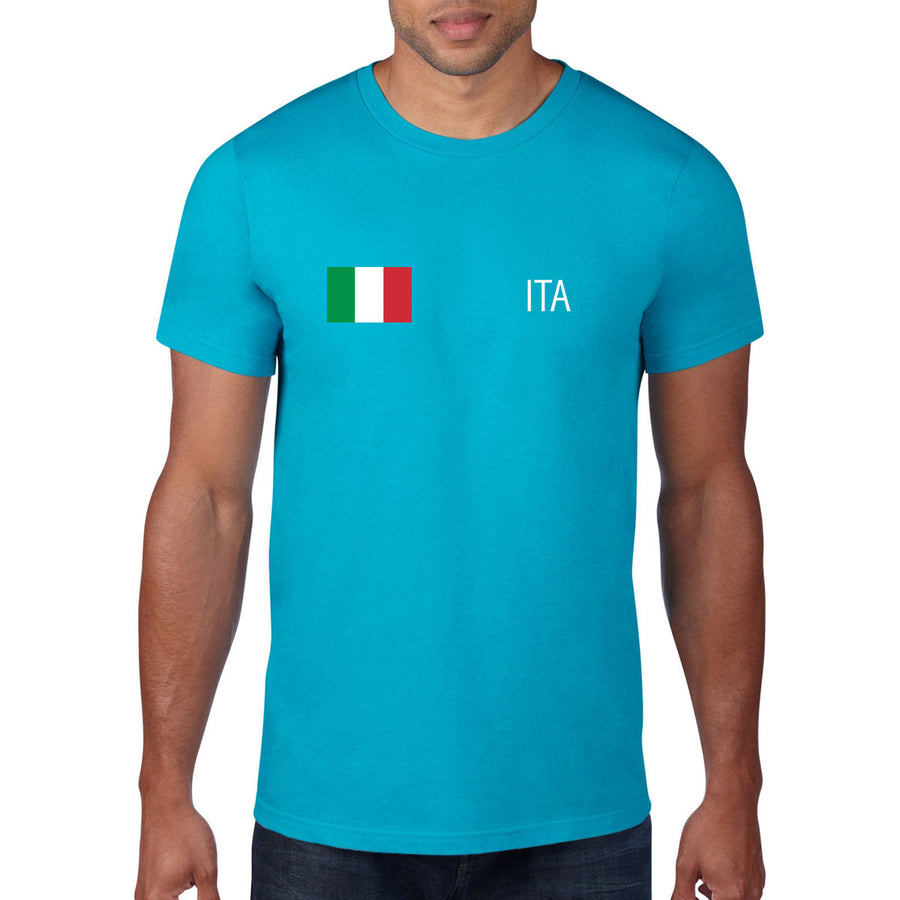 Italy Rugby Flag Tee - First XV rugbystuff.com