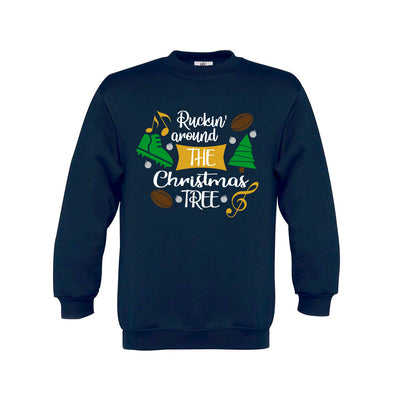 Kid's Ruckin' Around The Christmas Tree Rugby Jumper - First XV rugbystuff.com