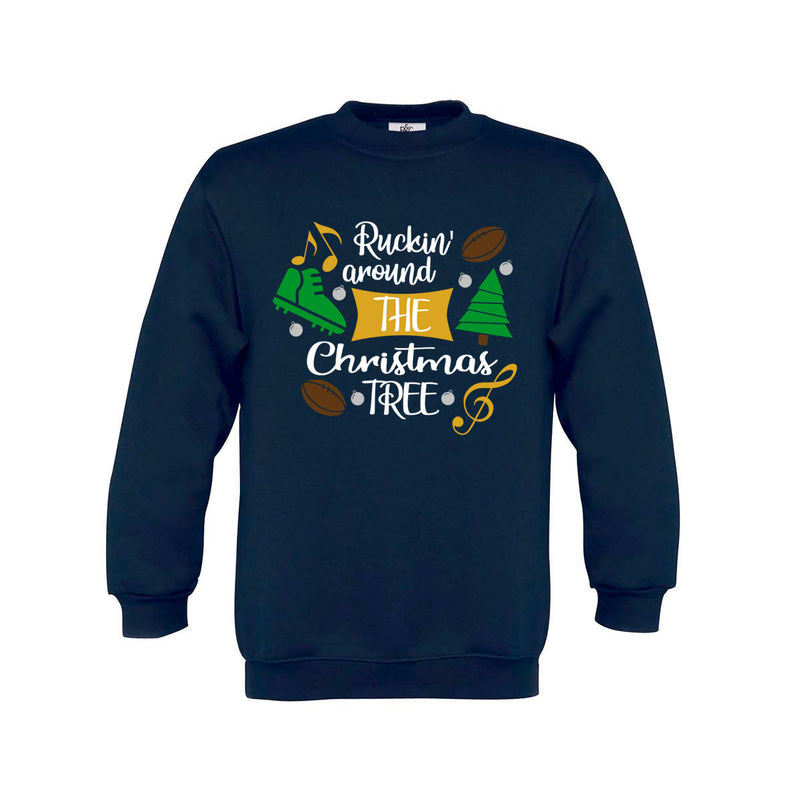 Kid's Ruckin' Around The Christmas Tree Rugby Jumper