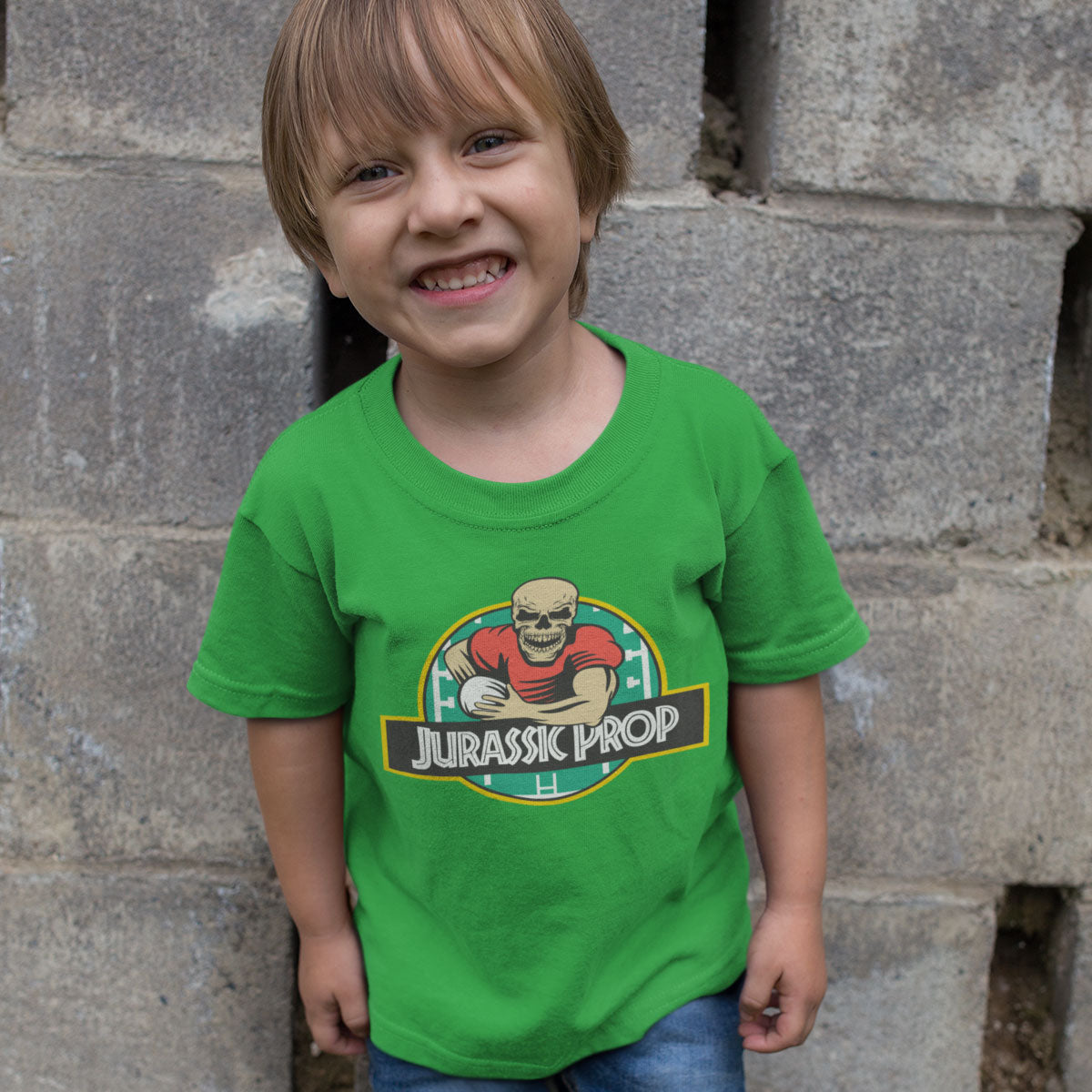 Kid's Jurassic Prop Rugby Tee - First XV rugbystuff.com