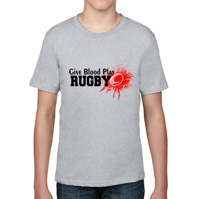 Kid's Give Blood Play Rugby Tee