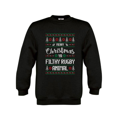 Kid's Merry Christmas Ya Filthy Rugby Animal Jumper - First XV rugbystuff.com