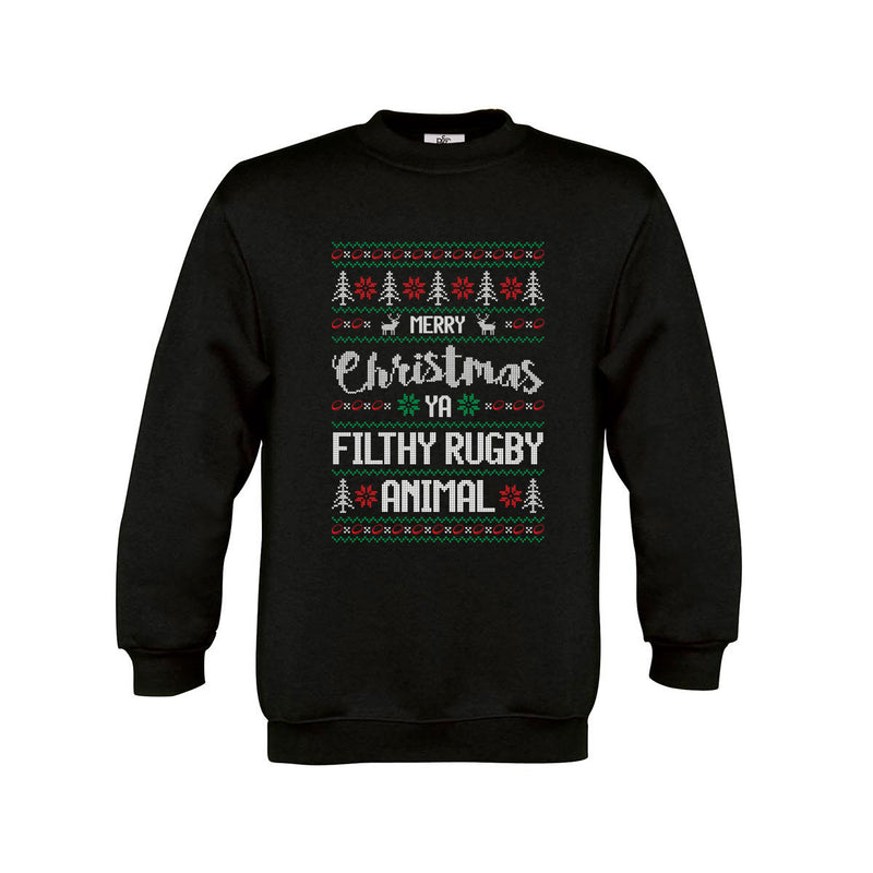Kid's Merry Christmas Ya Filthy Rugby Animal Jumper