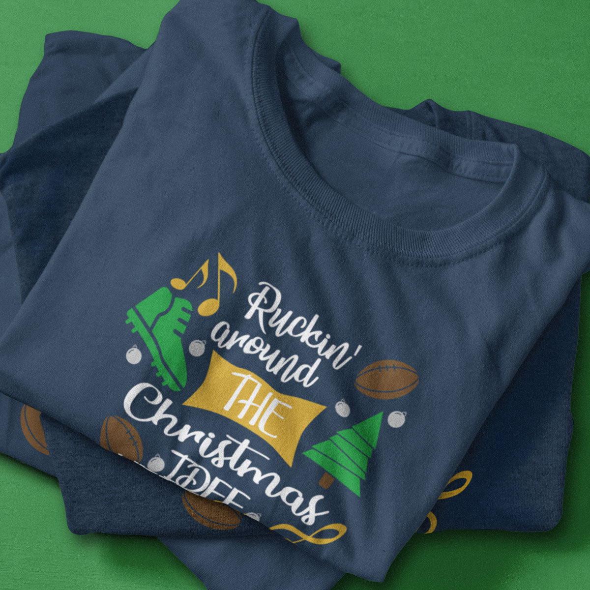 Kid's Ruckin' Around The Christmas Tree Rugby Tee - First XV rugbystuff.com