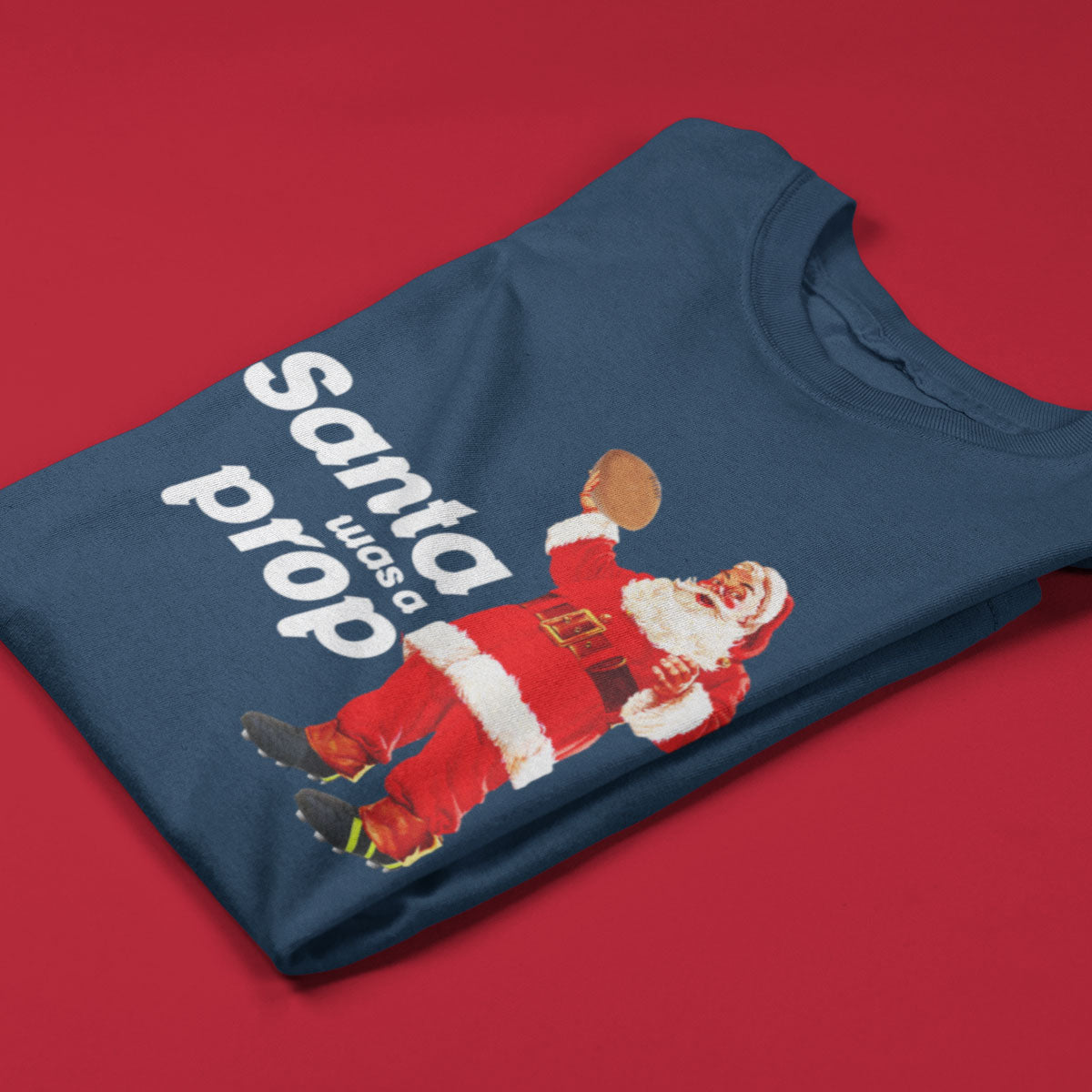 Kid's Santa Was A Prop Rugby Christmas Tee - First XV rugbystuff.com