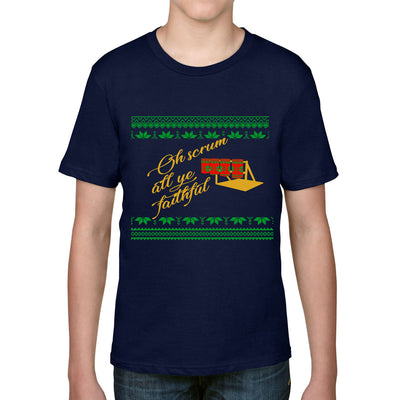 Kid's Scrum All Ye Faithful Christmas Rugby Tee