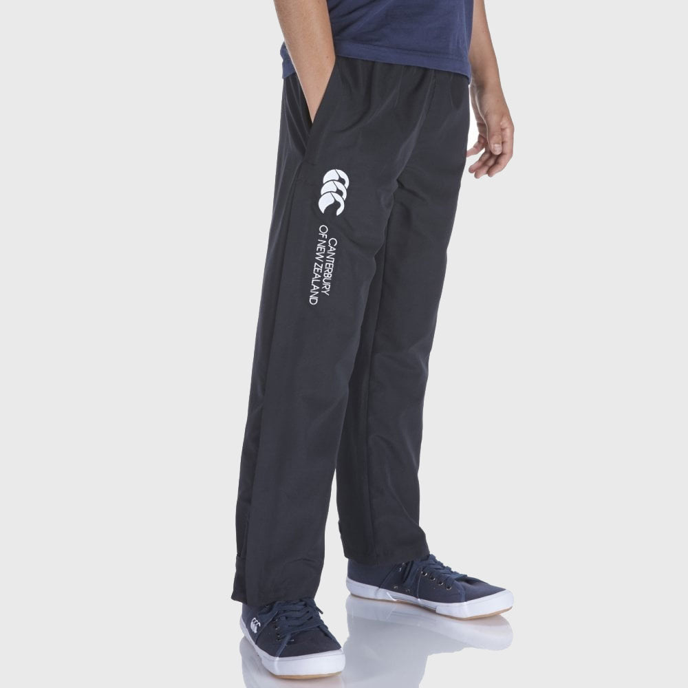 Kid's Open Hem Stadium Pants Black - First XV rugbystuff.com