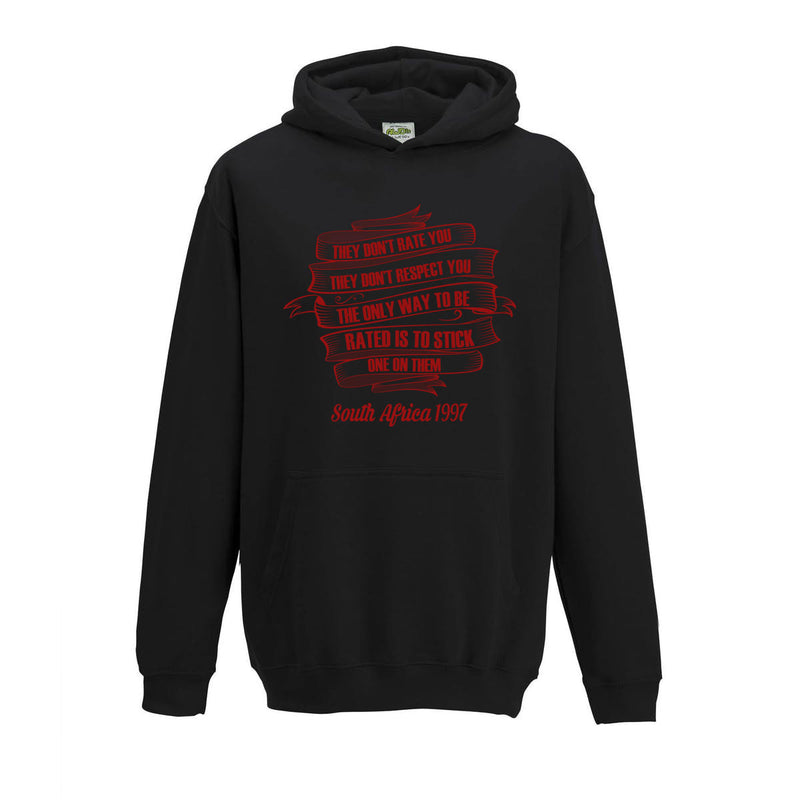 Kid's They Don't Respect You Rugby Hoody