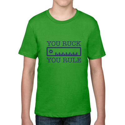 Kid's You Ruck, You Rule Rugby Tee - First XV rugbystuff.com