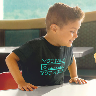 Kid's You Ruck, You Rule Rugby Tee