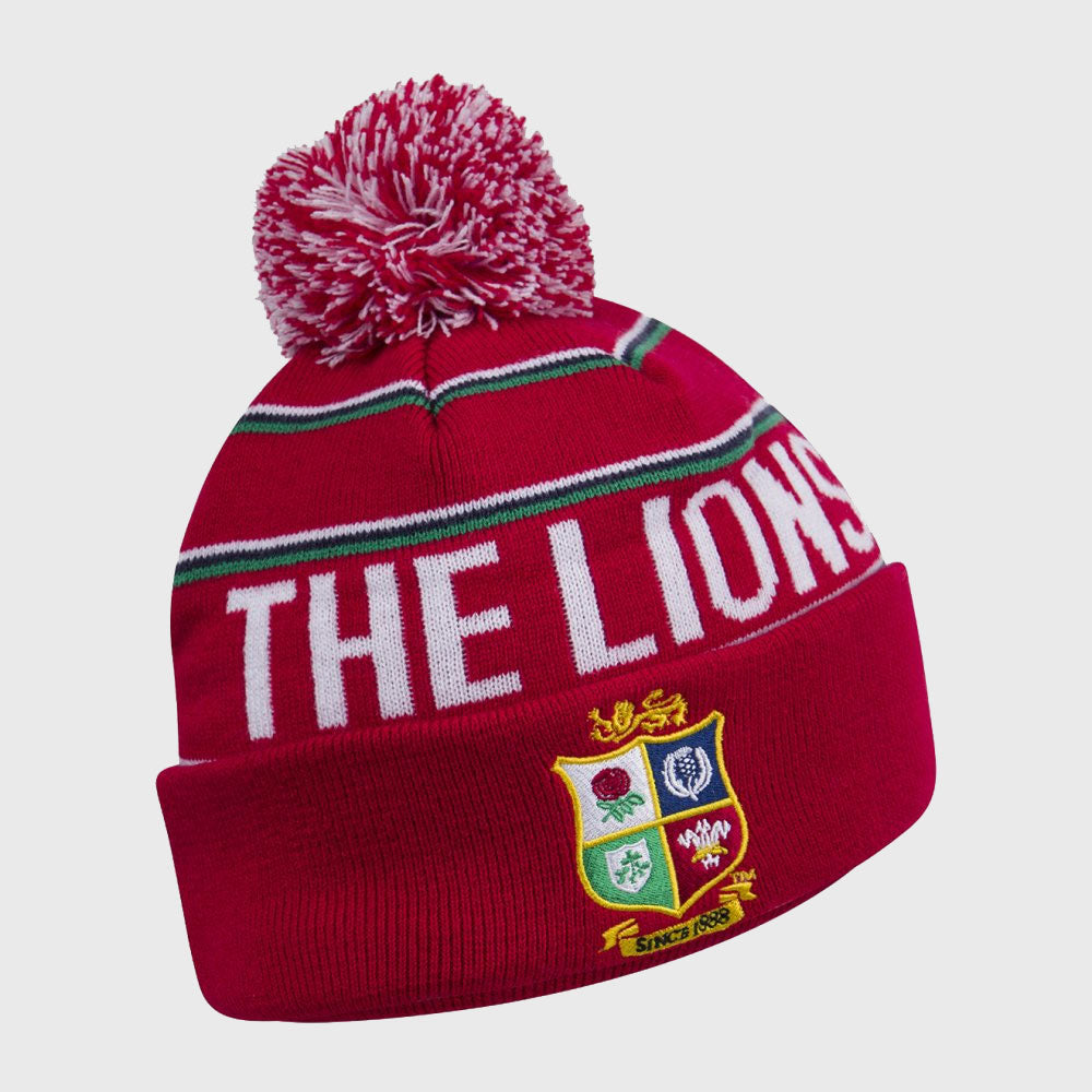 British & Irish Lions SA 2021 Bobble Beanie Hat Red