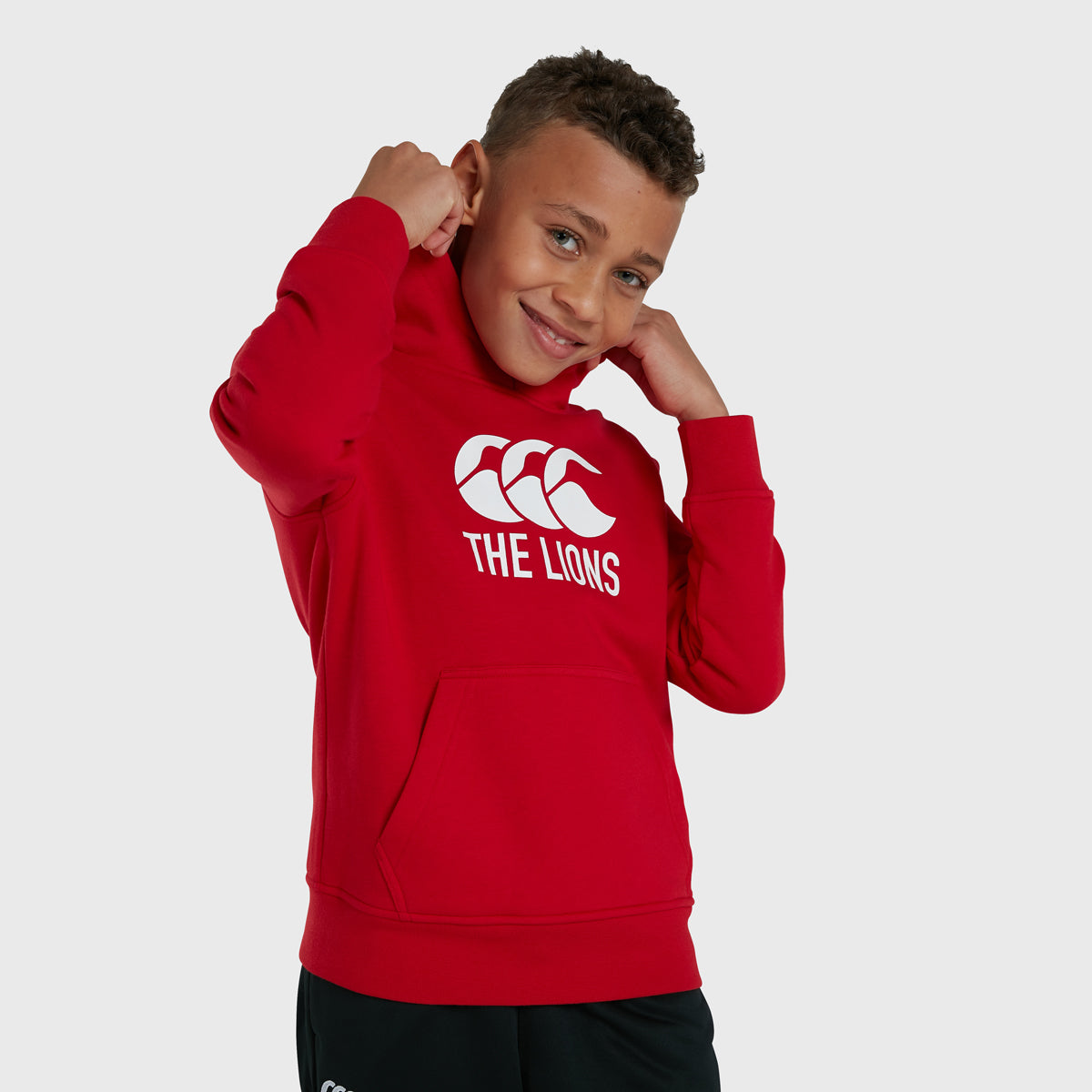 British & Irish Lions SA 2021 Kid's Big Logo Hoody Red