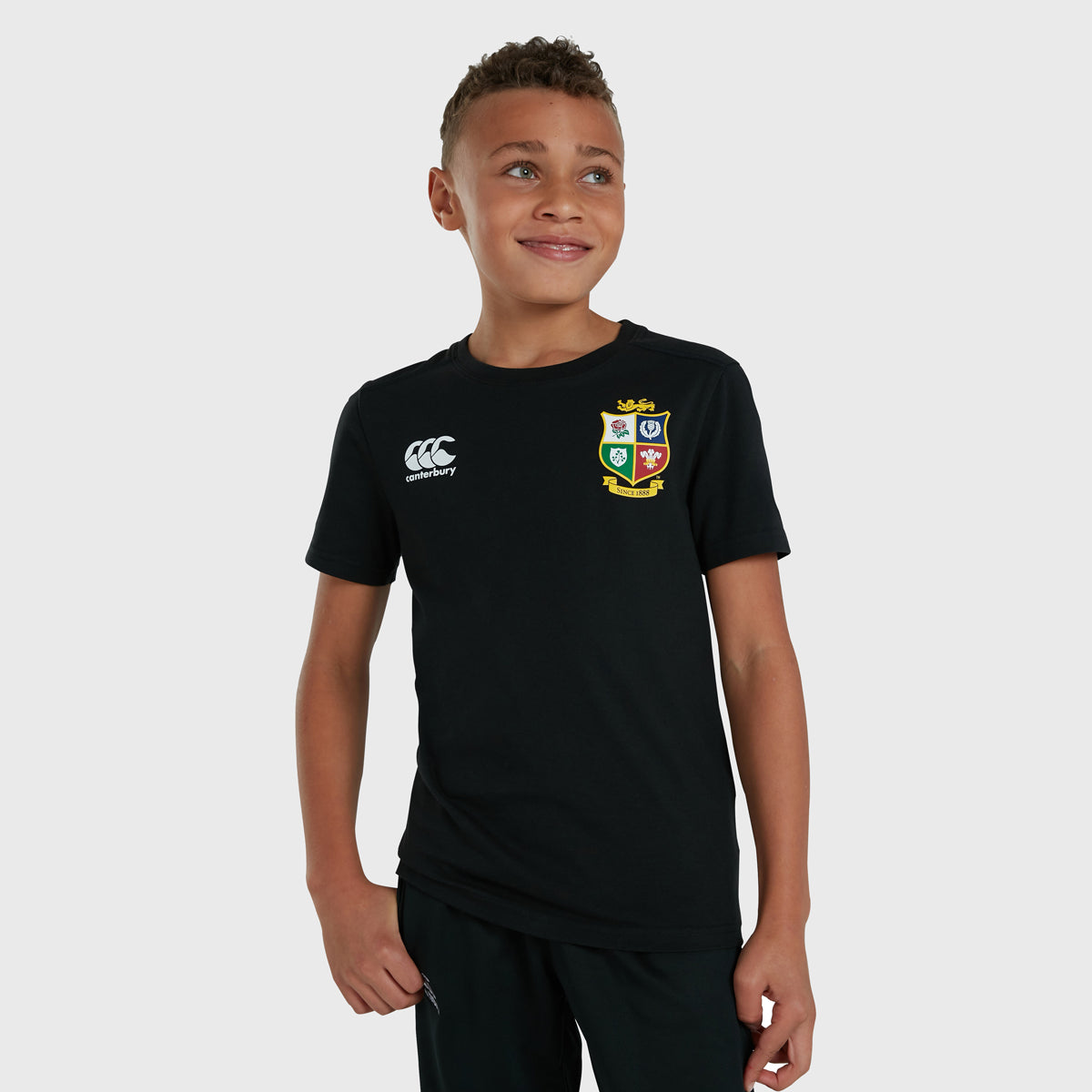 British & Irish Lions SA 2021 Kid's Cotton Tee Black