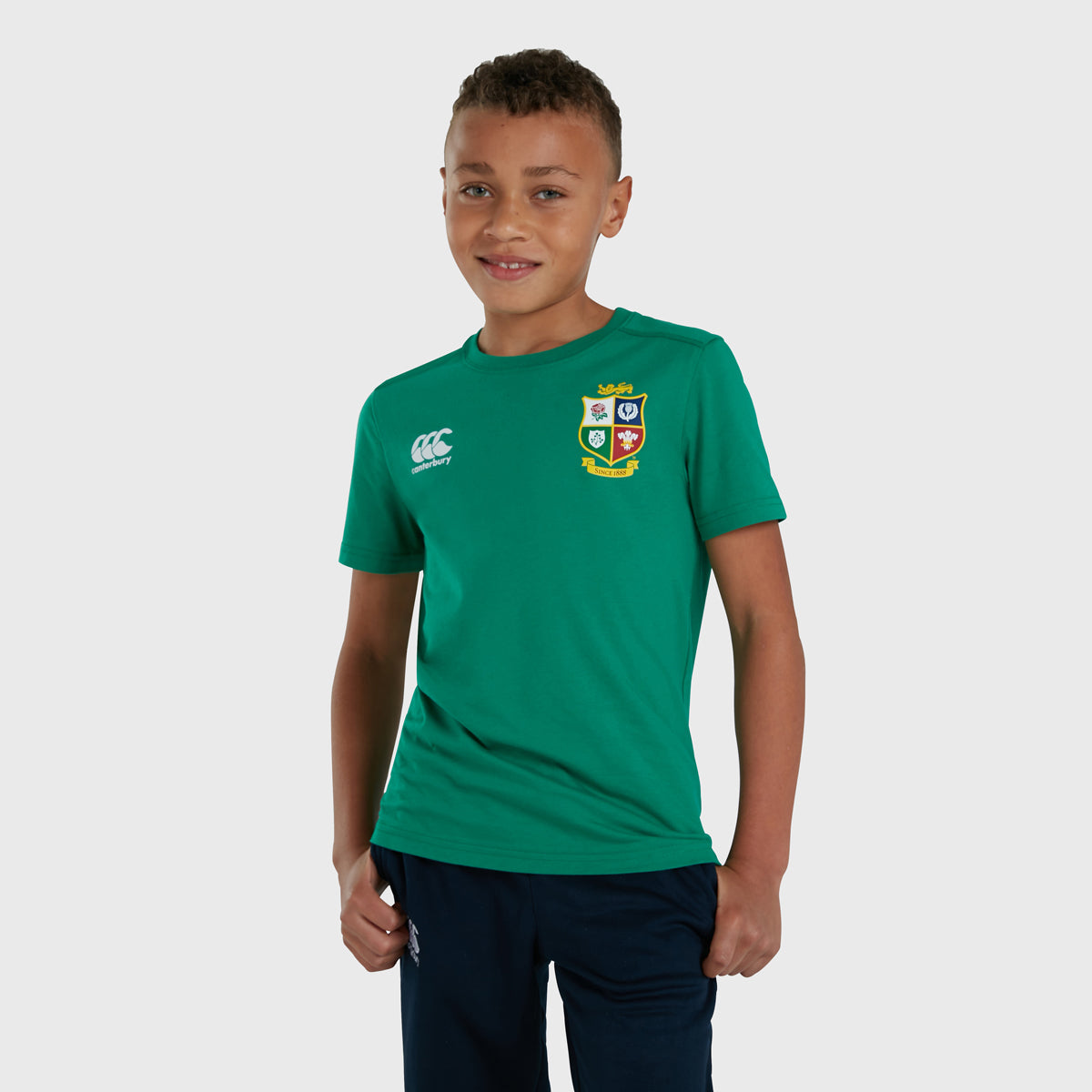 British & Irish Lions SA 2021 Kid's Cotton Tee Green