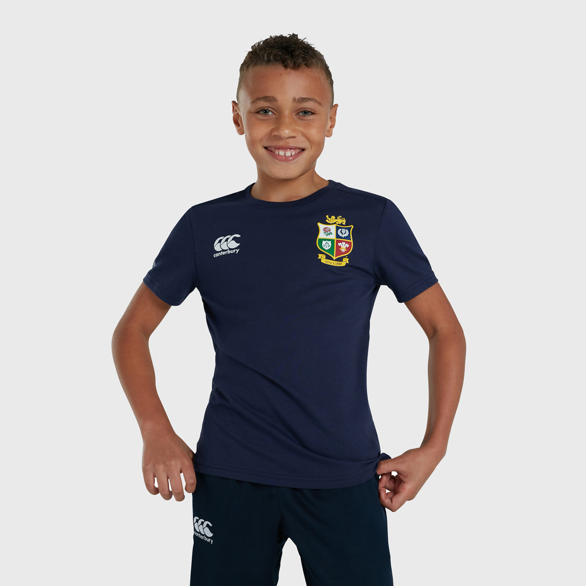 British & Irish Lions SA 2021 Kid's Cotton Tee Navy