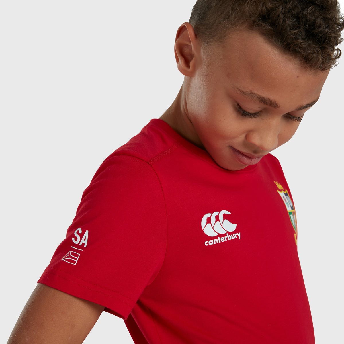 British & Irish Lions SA 2021 Kid's Cotton Tee Red