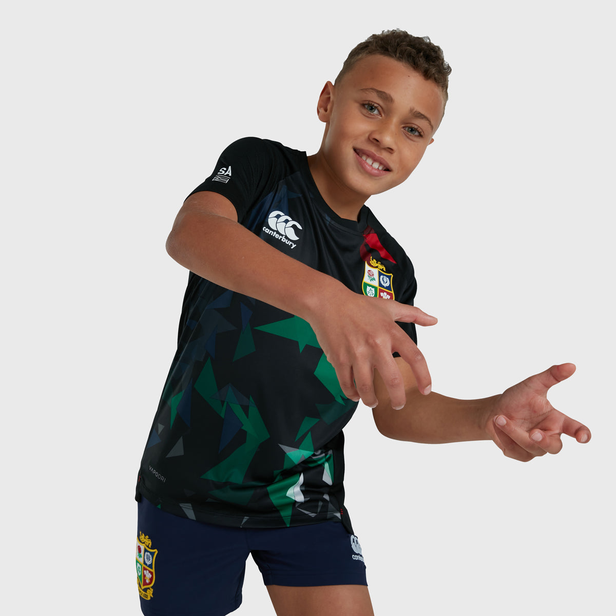 British & Irish Lions SA 2021 Kid's Vapodri Superlight Graphic Tee Black