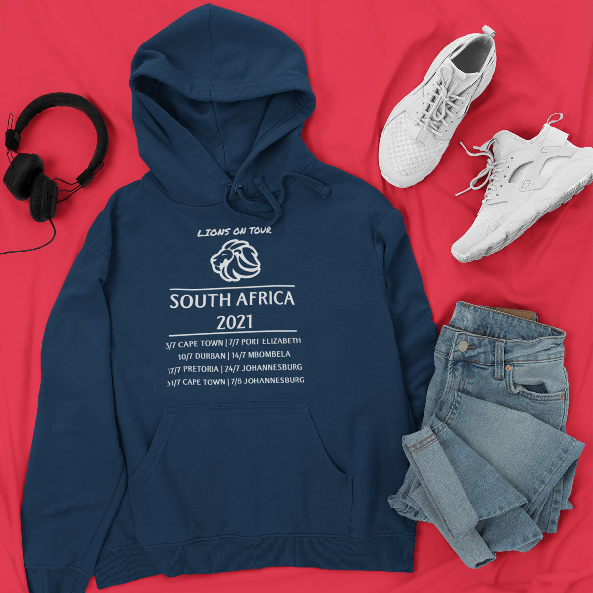 Unisex Lions On Tour South Africa 2021 Rugby Hoody - First XV rugbystuff.com