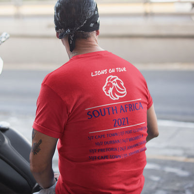 Lions On Tour South Africa 2021 Tee - First XV rugbystuff.com
