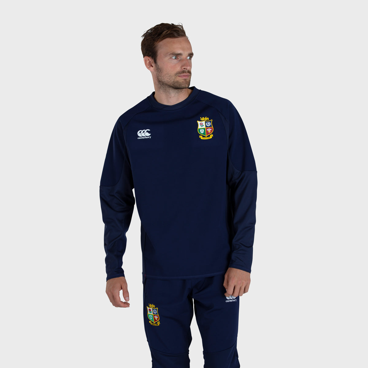 British & Irish Lions SA 2021 Men's Tech Drill Top Navy