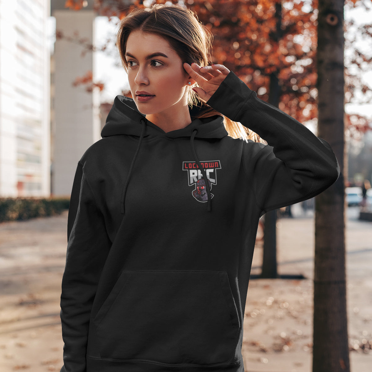 Unisex Lockdown RFC Small Logo Hoody - First XV rugbystuff.com