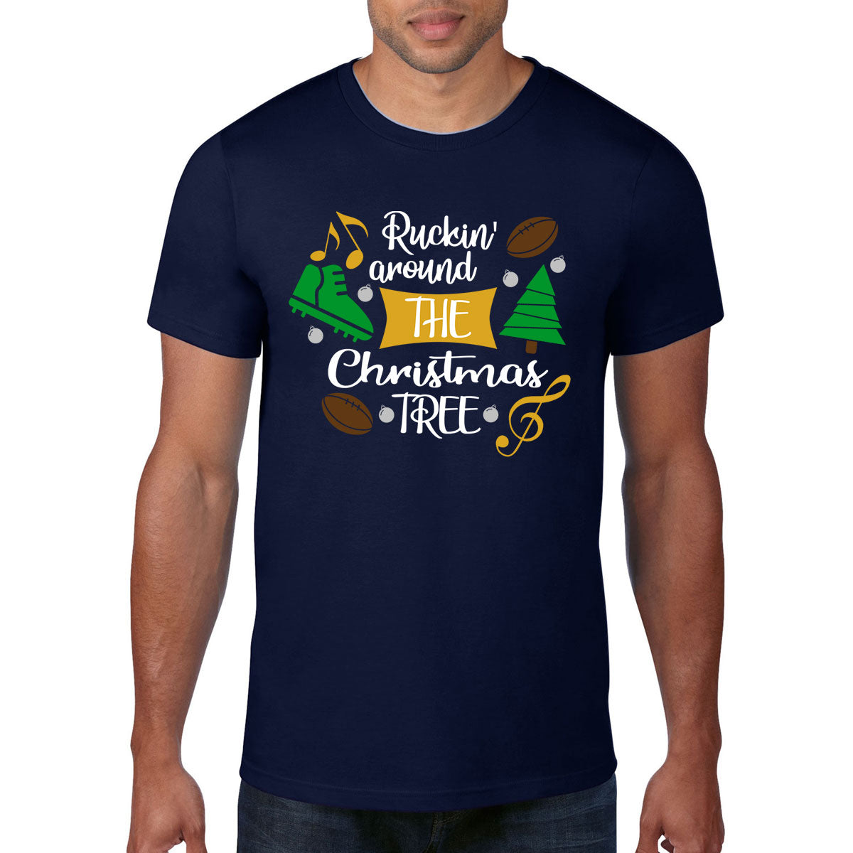 Ruckin' Around The Christmas Tree Rugby Tee - First XV rugbystuff.com