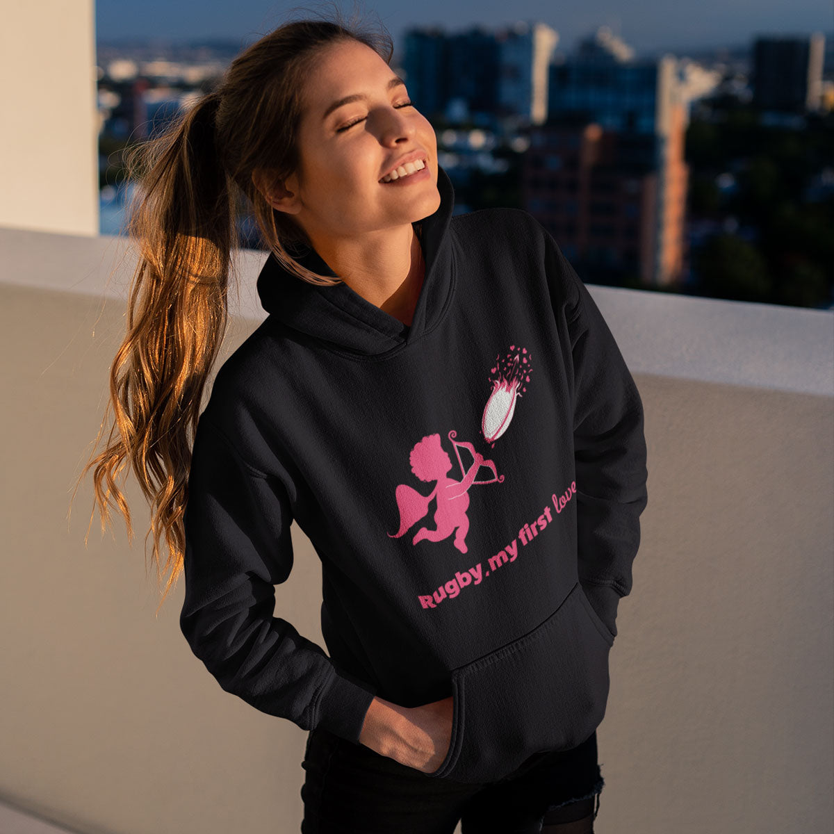 Unisex Rugby, My First Love Hoody - First XV rugbystuff.com