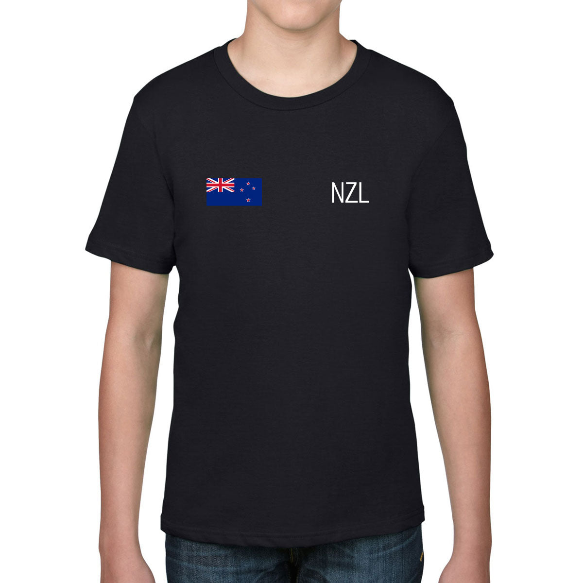 New Zealand Rugby Kid's Flag Tee - First XV rugbystuff.com