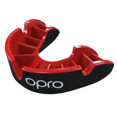 Silver Gen4 Mouthguard Black/Red