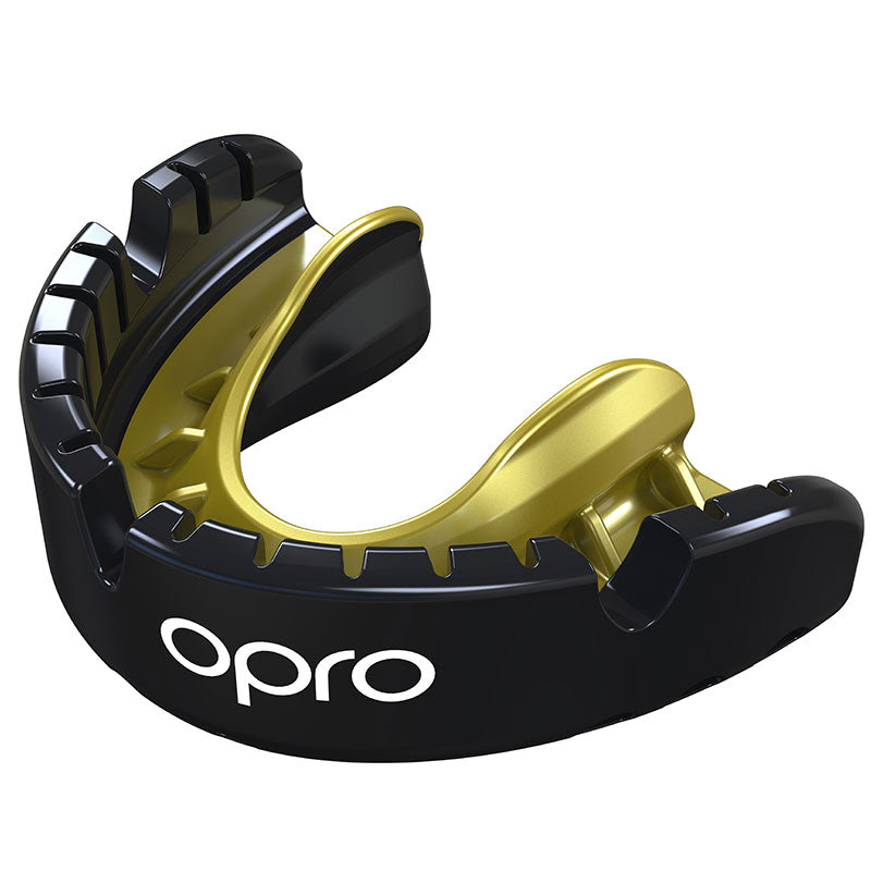 Gold Braces Gen4 Mouthguard Black/Gold - First XV rugbystuff.com