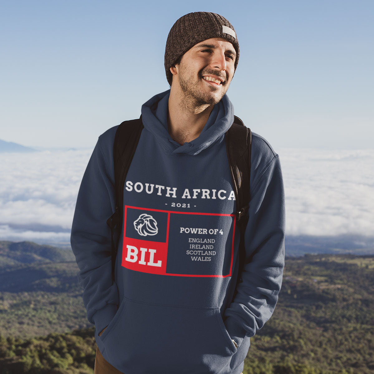 Unisex Power of 4 South Africa 2021 Rugby Hoody