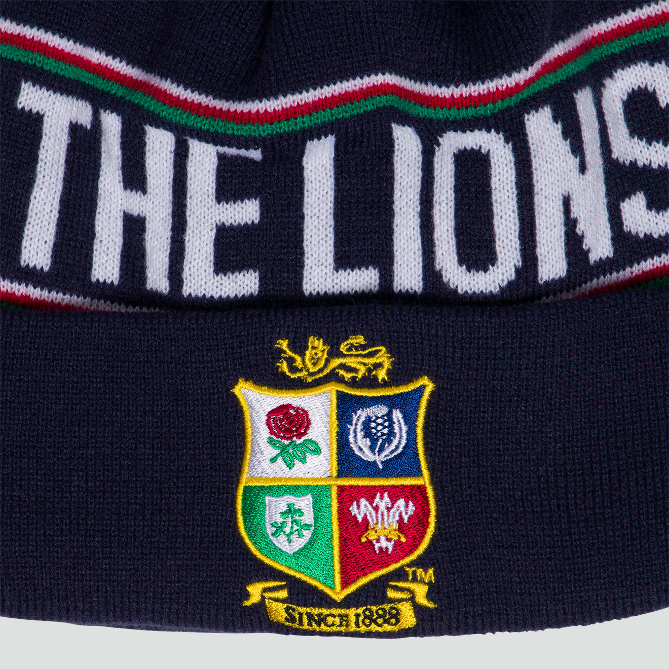 British & Irish Lions SA 2021 Bobble Beanie Hat Navy