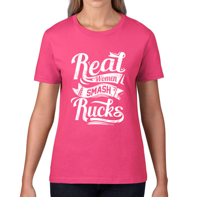 Women's Real Women Smash Rucks Rugby Tee - First XV rugbystuff.com