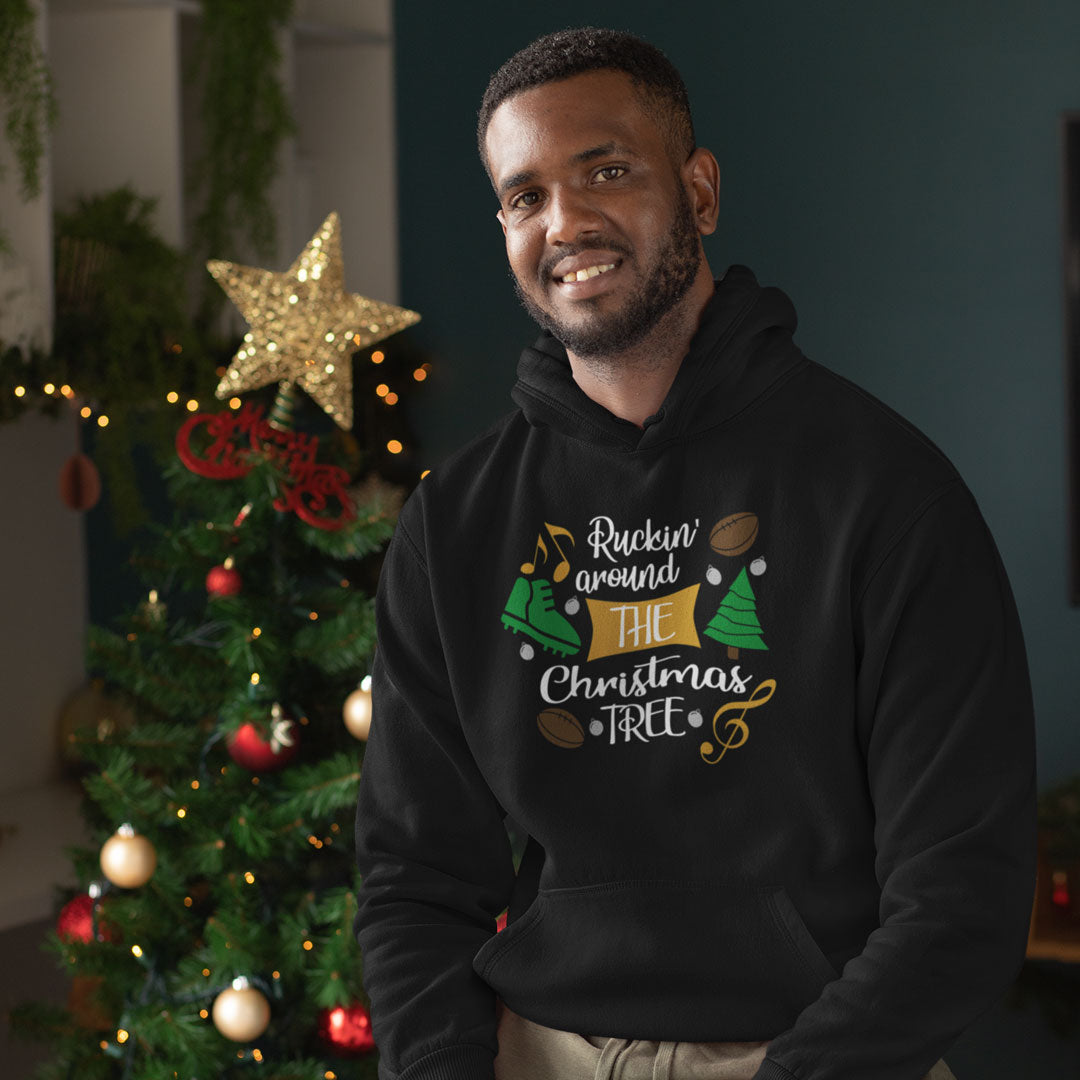 Unisex Ruckin' Around The Christmas Tree Hoody - First XV rugbystuff.com