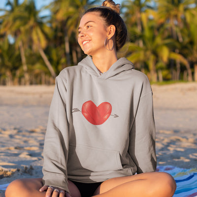 Unisex Rugby Ball Heart Hoody - First XV rugbystuff.com