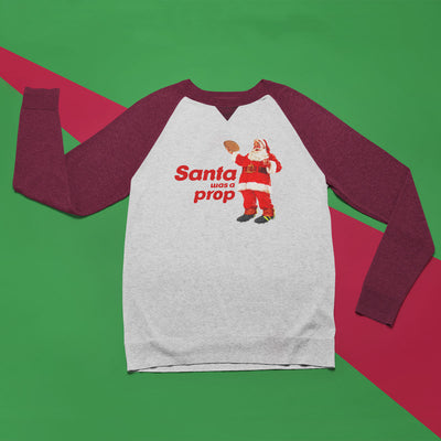 Unisex Santa Was A Prop Rugby Christmas Baseball Jumper - First XV rugbystuff.com