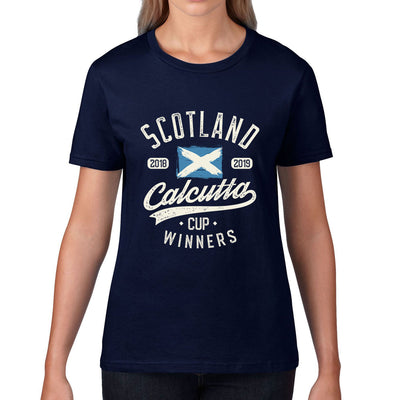 Women's Scotland 2018 & 2019 Calcutta Cup Winners Tee