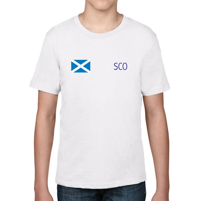 Scotland Kid's Flag Tee - First XV rugbystuff.com