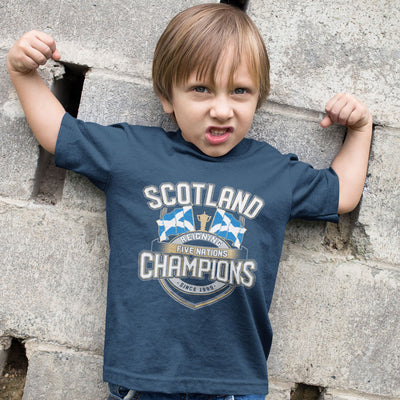 Kid's Scotland Reigning Five Nations Champions Tee - First XV rugbystuff.com