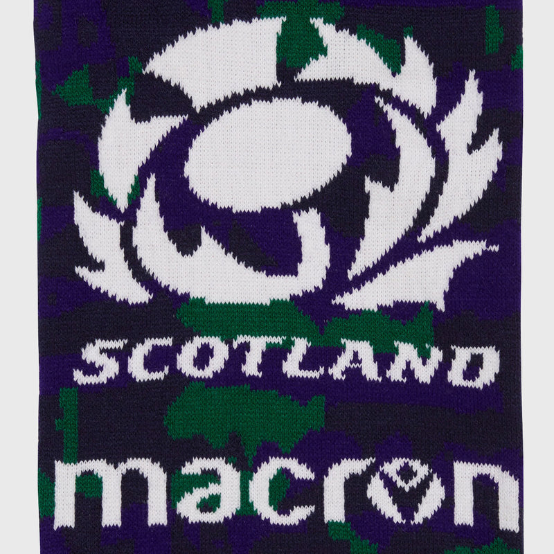 Scotland Rugby Camo Scarf Navy/Green/Purple