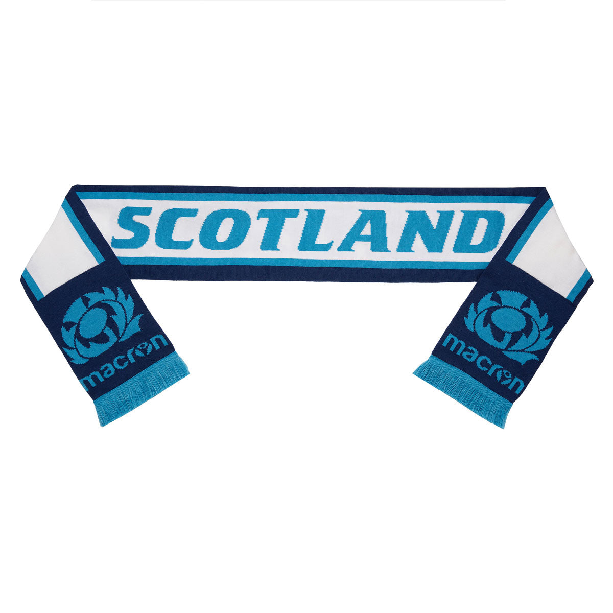 Scotland Rugby Scarf Navy/Light Blue/White