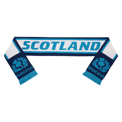 Scotland Rugby Scarf Navy/Light Blue/White - First XV rugbystuff.com