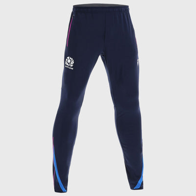 Scotland Rugby Microfiber Travel Track Pants Navy/Tartan - First XV rugbystuff.com