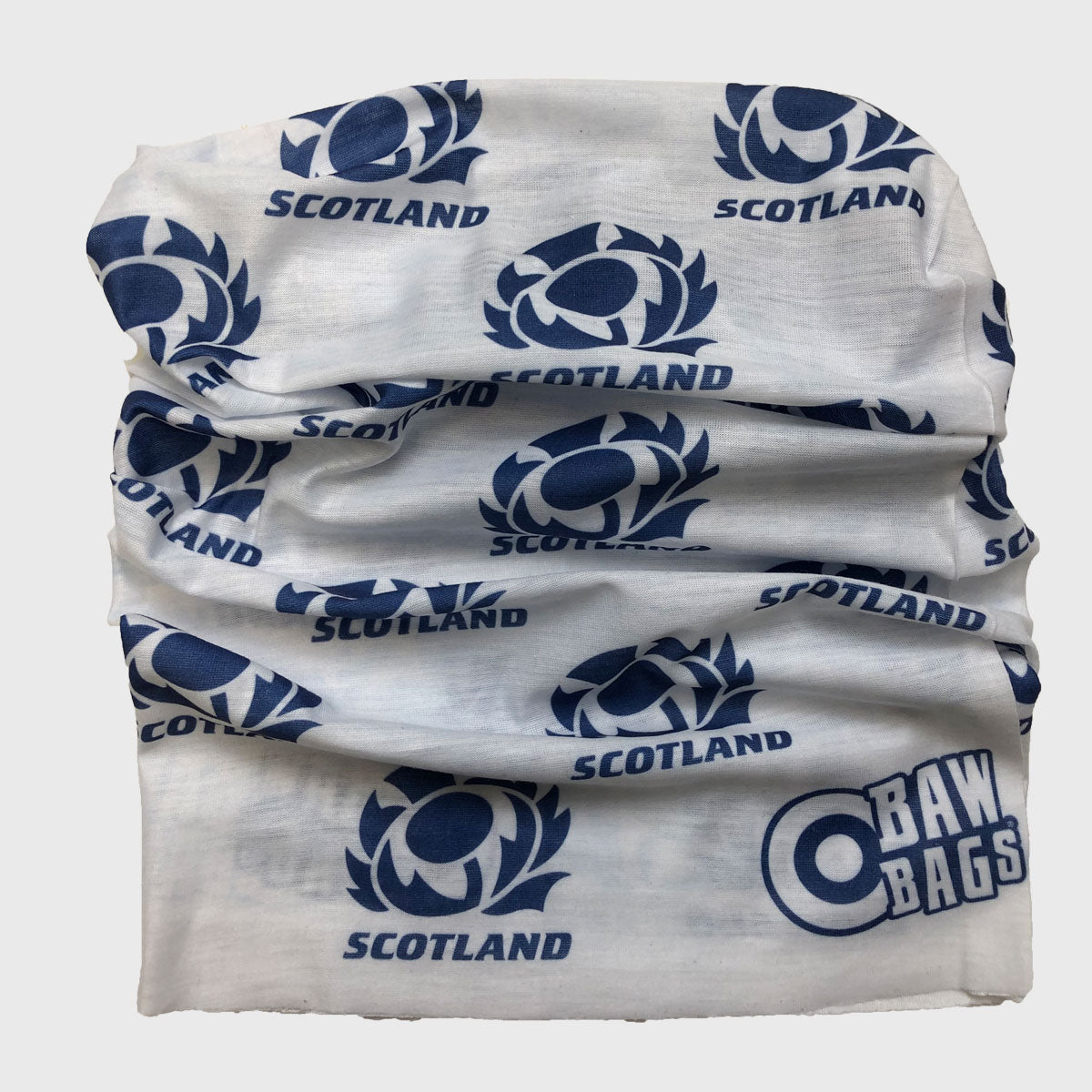 Scotland Rugby Wizard Sleeve Buff White/Navy