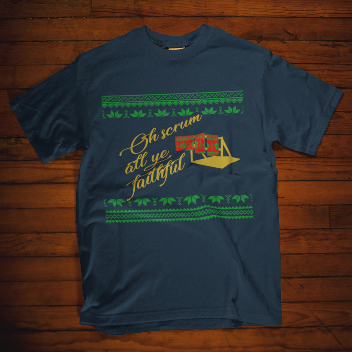Scrum All Ye Faithful Rugby Christmas Tee - First XV rugbystuff.com