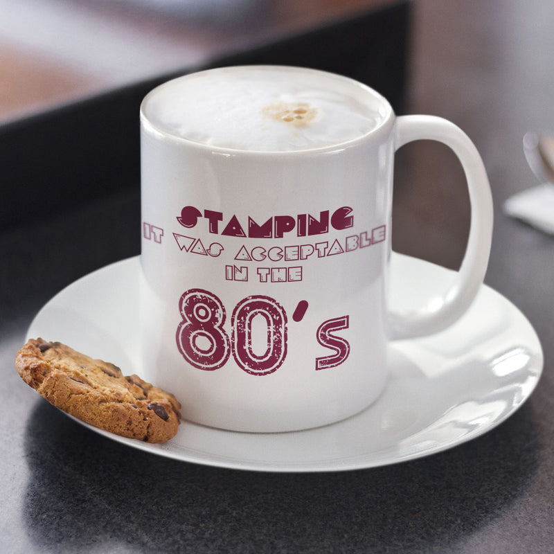 Acceptable In The 80s Rugby Mug - First XV rugbystuff.com