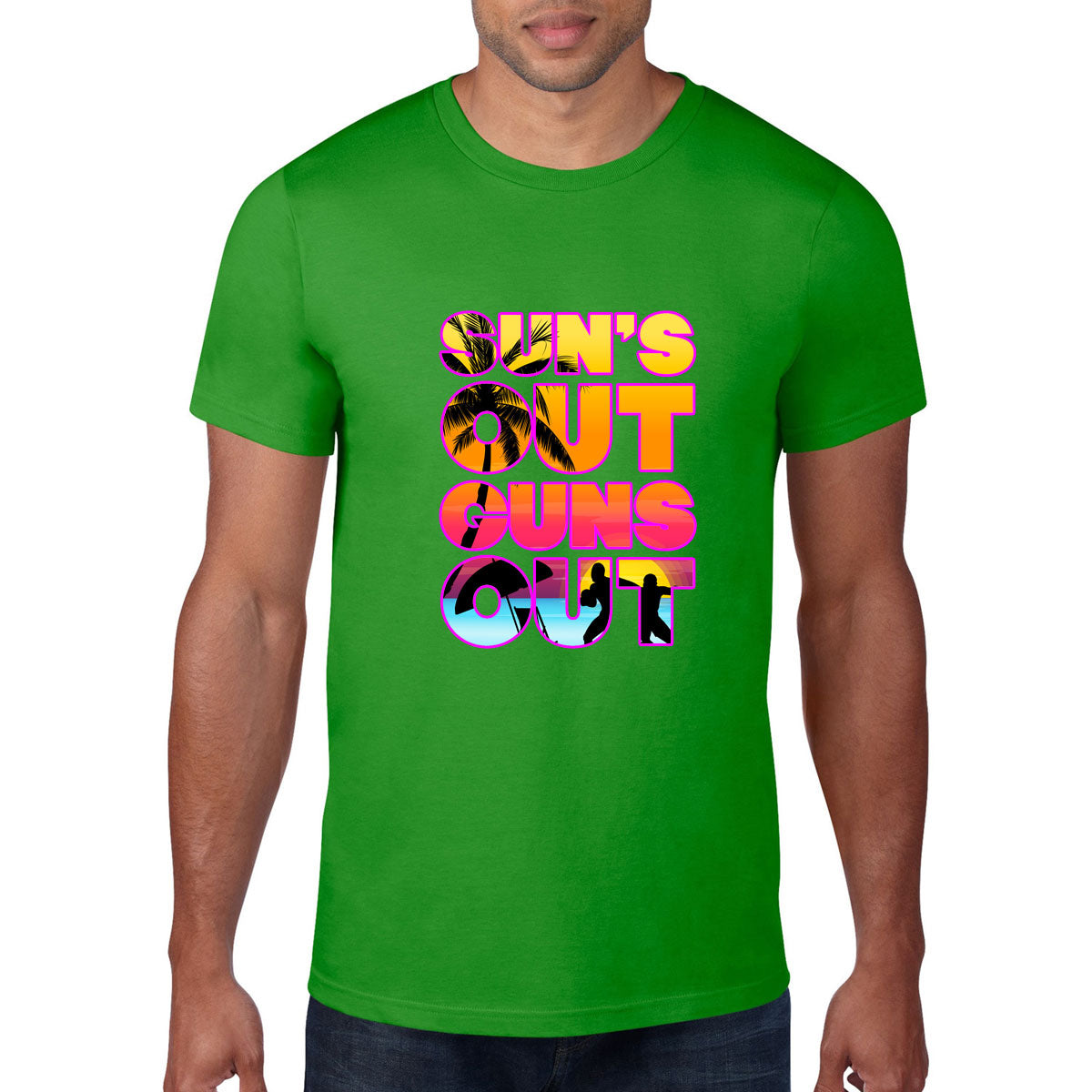 Sun's Out, Guns Out Rugby Tee - First XV rugbystuff.com
