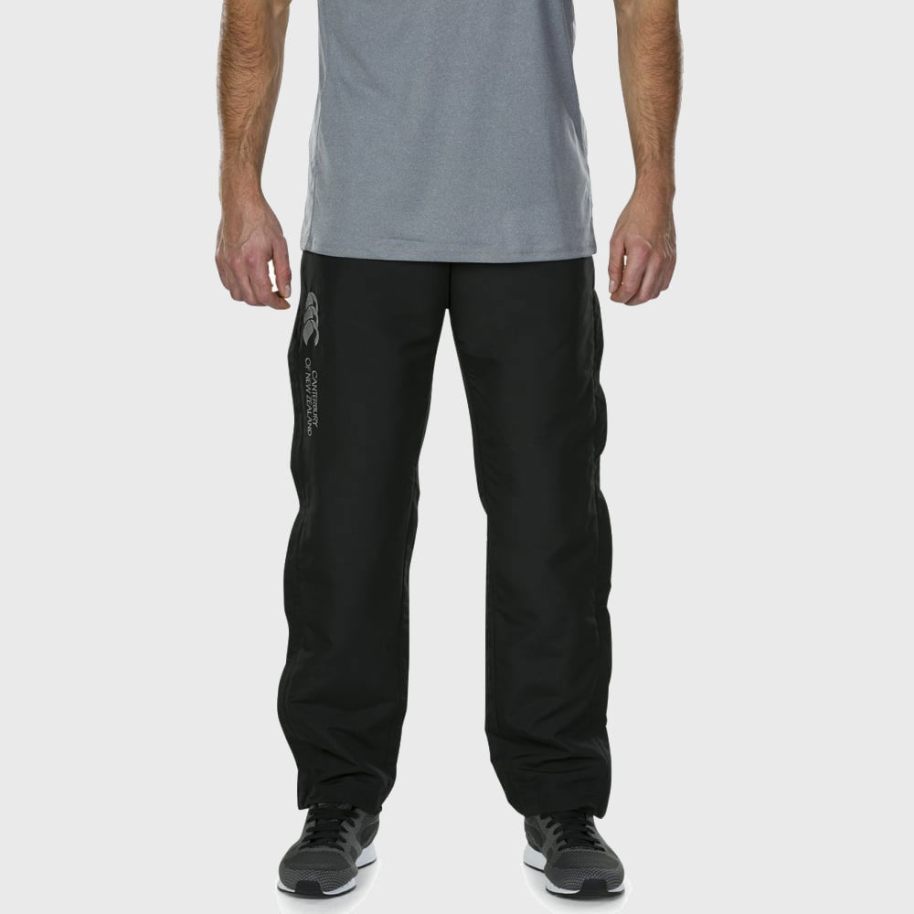 Men's Tapered Open Hem Stadium Pants Black - First XV rugbystuff.com